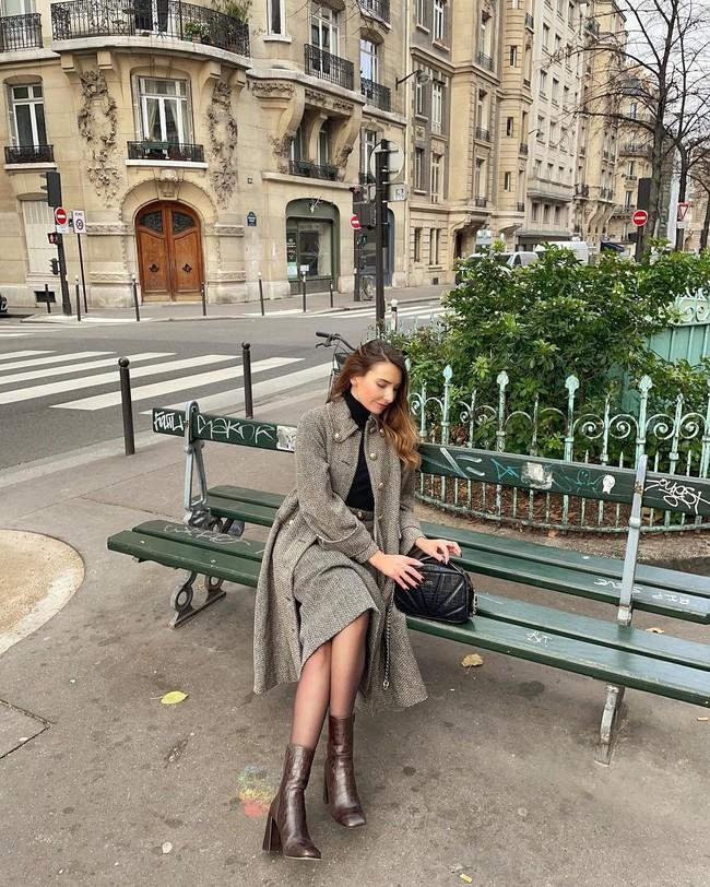 Cách diện chân váy dài gái Pháp - Ảnh 9.