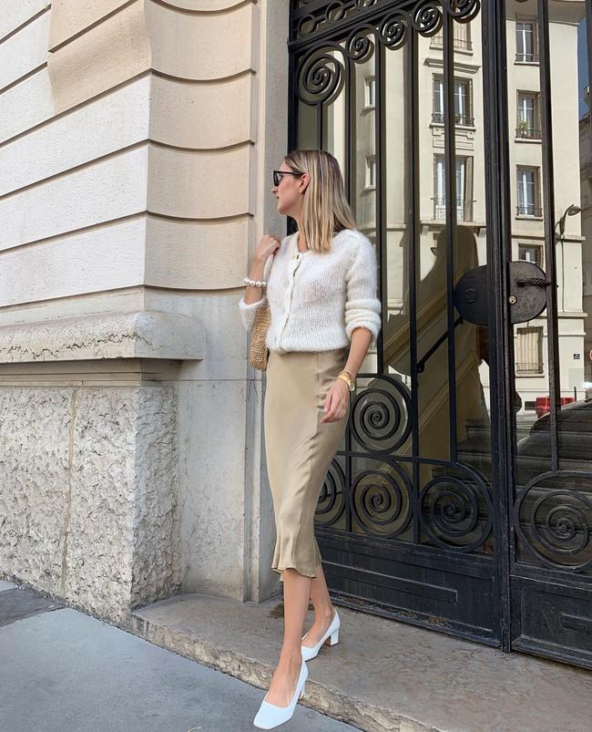 Cách diện chân váy dài gái Pháp - Ảnh 2.
