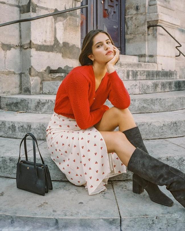 Cách diện chân váy dài gái Pháp - Ảnh 3.