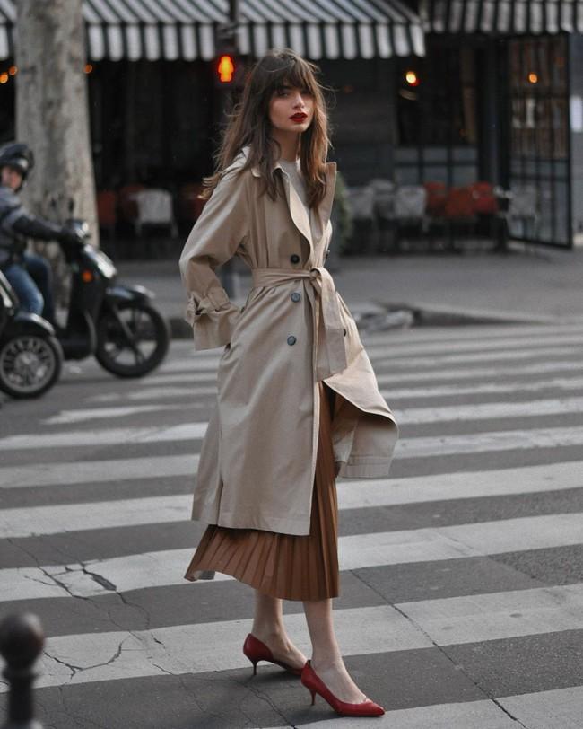 Cách diện chân váy dài gái Pháp - Ảnh 4.