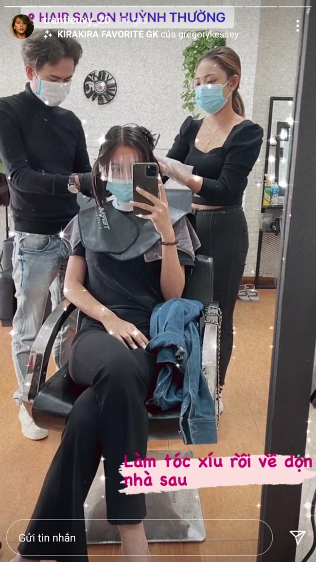 """Sao Việt làm đẹp giờ chót: Hoà Minzy cắt tóc, Ngọc Trinh khoe nail ngắn """"max"""" xinh - Ảnh 1."""