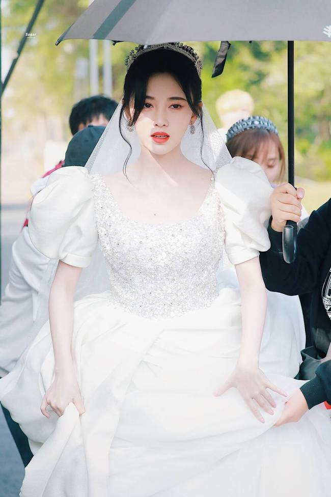 Cúc Tịnh Y mặc váy cưới đẹp mong manh yếu đuối nhưng vẫn bị netizen mắng té tát vì mặt quá đơ cứng  - Ảnh 2.