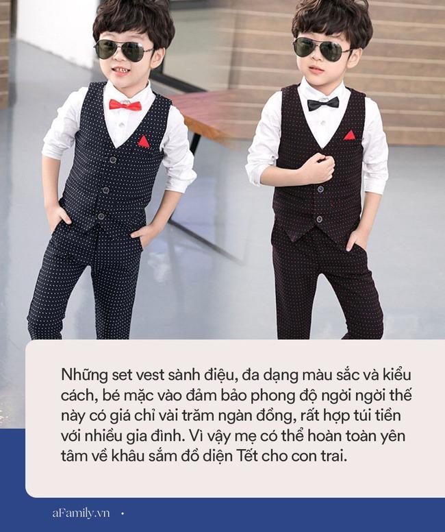 """Chẳng kém bé gái, bé trai cũng có cơ man đồ xinh diện Tết, con mặc vào """"bao đẹp"""" mà mẹ lại được khen khéo chọn đồ - Ảnh 5."""