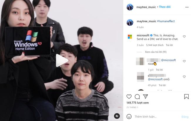 Nhóm nhạc Hàn Quốc gây kinh ngạc vì bắt chước các hiệu ứng âm thanh của Windows, song phản ứng từ Microsoft mới bất ngờ - Ảnh 2.