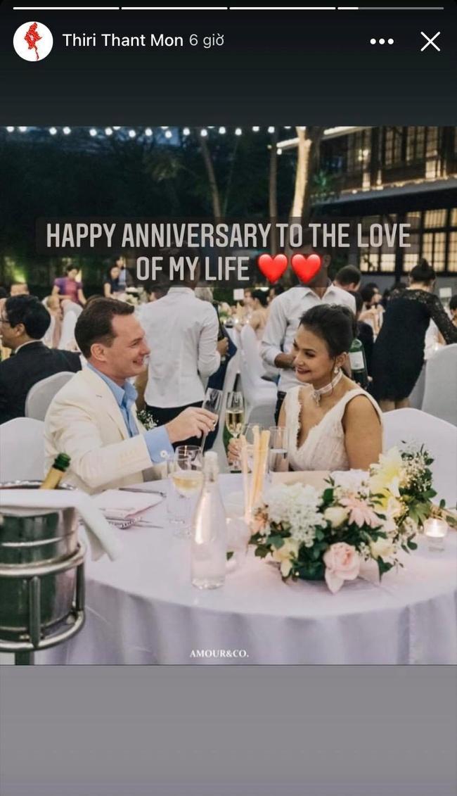 Chồng cũ Hồng Nhung và vợ đại gia kỷ niệm ngày cưới bằng loạt ảnh tình tứ - Ảnh 3.