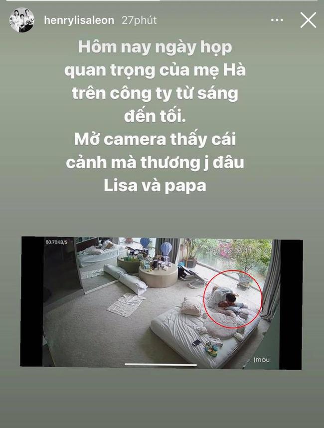 Hồ Ngọc Hà ấm lòng khi thấy cảnh tượng hai cha con Kim Lý và Lisa qua camera - Ảnh 2.
