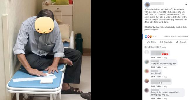 Cụ ông cặm cụi ngồi gấp giấy vệ sinh trong góc phòng bệnh viện hàng ngày, biết lý do đằng sau ai cũng cảm động - Ảnh 1.
