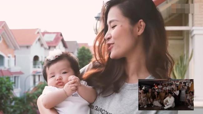 """Con gái Đông Nhi gây thích thú với gương mặt """"không cảm xúc"""" khi mẹ chúc mừng sinh nhật bố Ông Cao Thắng - Ảnh 3."""