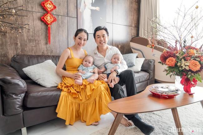 Sara Lưu tiết lộ năm qua cặp sinh đôi chào đời như trở thành thiên thần hộ mệnh của ba mẹ, Tết này sẽ rực rỡ hơn năm trước rất nhiều - Ảnh 1.