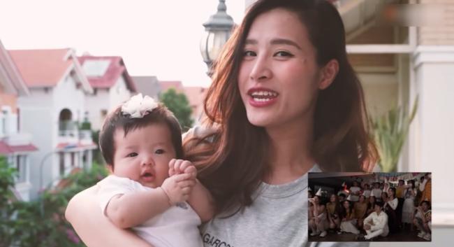 """Con gái Đông Nhi gây thích thú với gương mặt """"không cảm xúc"""" khi mẹ chúc mừng sinh nhật bố Ông Cao Thắng - Ảnh 4."""