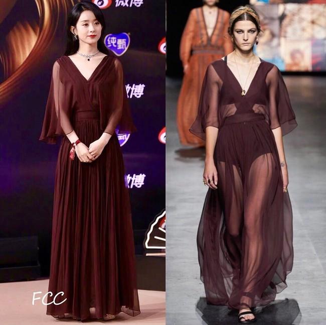 Loạt sao sửa váy tại Đêm hội Weibo, tiếc thay cho Angela Baby vì bỏ mất phụ kiện này mà kém sang hơn bản gốc  - Ảnh 5.