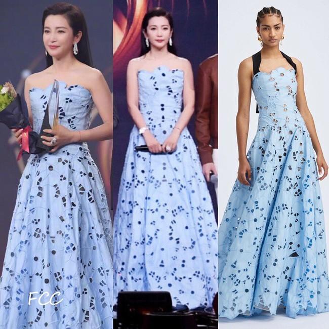 Loạt sao sửa váy tại Đêm hội Weibo, tiếc thay cho Angela Baby vì bỏ mất phụ kiện này mà kém sang hơn bản gốc  - Ảnh 4.