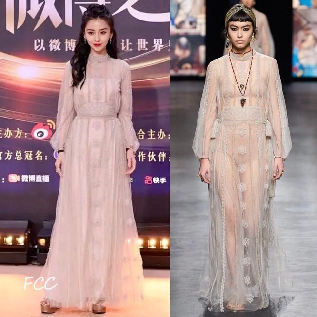 Loạt sao sửa váy tại Đêm hội Weibo, tiếc thay cho Angela Baby vì bỏ mất phụ kiện này mà kém sang hơn bản gốc  - Ảnh 3.