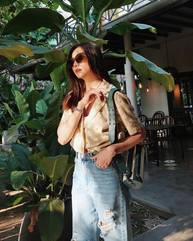 Trời ấm lên, cập nhật ngay 12 cách diện áo sơ mi/blouse của các mỹ nhân Việt để sành điệu từ công sở ra phố - Ảnh 10.