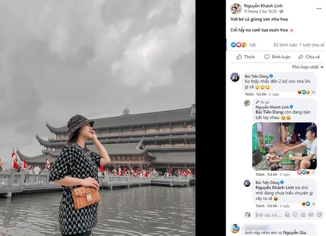Khoe ảnh đi chùa đầu năm, Khánh Linh - vợ Bùi Tiến Dũng khiến dân tình xôn xao: Phải chăng chị đang mang bầu tập 2? - Ảnh 2.