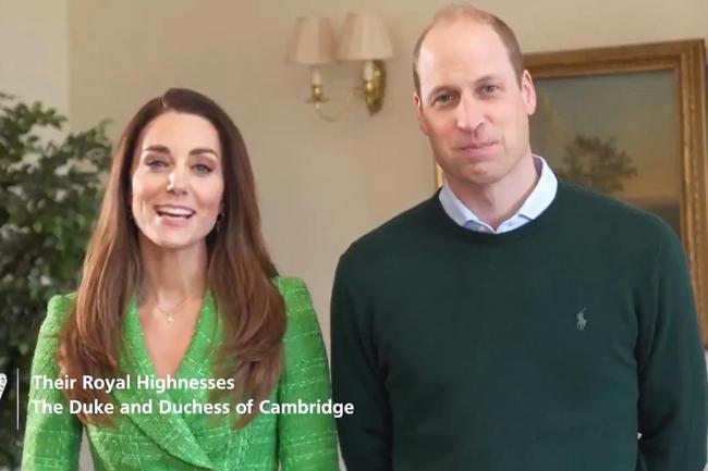 Vợ chồng Công nương Kate xuất hiện rạng rỡ trong video Lễ Thánh Patrick 001