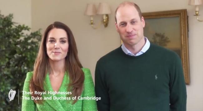 Vợ chồng Công nương Kate xuất hiện rạng rỡ trong video Lễ Thánh Patrick 002
