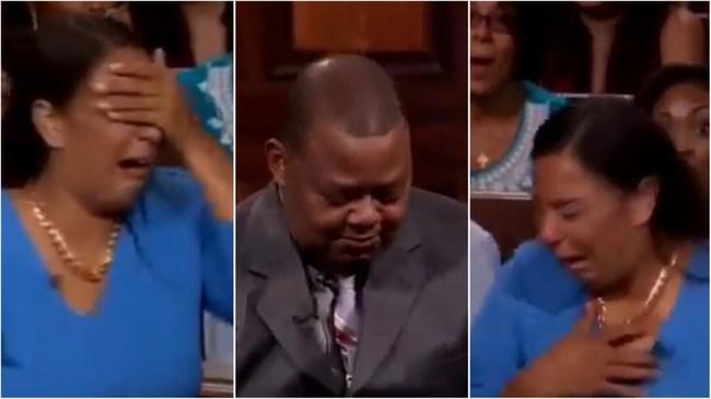 Lôi chồng đến tòa án thực tế để yêu cầu chu cấp tiền nuôi con gái, người phụ nữ khóc nức nở khi bị vạch mặt giữa đám đông - Ảnh 3.