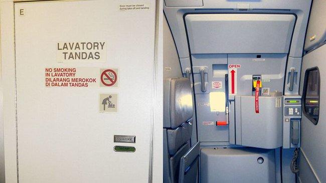 """Cách phân biệt cửa thoát hiểm và cửa nhà vệ sinh trên máy bay không phải ai cũng biết để tránh bị phạt """"oan"""" - Ảnh 2."""