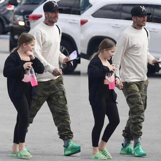 """""""Công chúa út"""" Harper nhà David Beckham """"chiếm sóng"""" khi đi cạnh bố mẹ nhờ ngoại hình xinh xắn và chiều cao vượt trội - Ảnh 3."""
