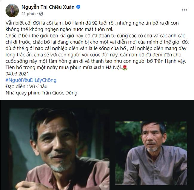 NSND Công Lý và dàn sao Việt thương tiếc NSND Trần Hạnh - Ảnh 3.