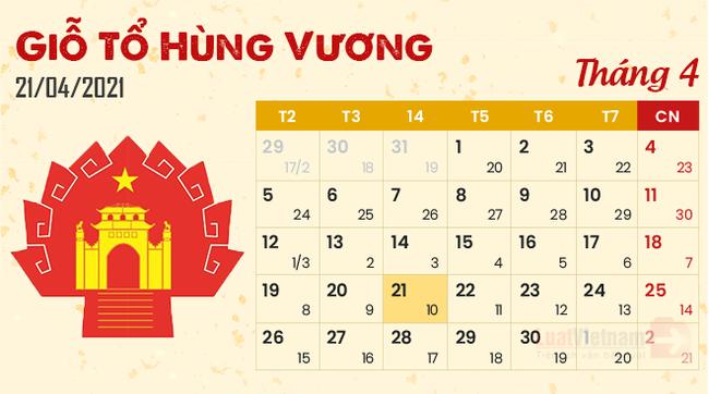 Giỗ tổ Hùng Vương năm 2021: Người lao động được nghỉ mấy ngày? - Ảnh 1.