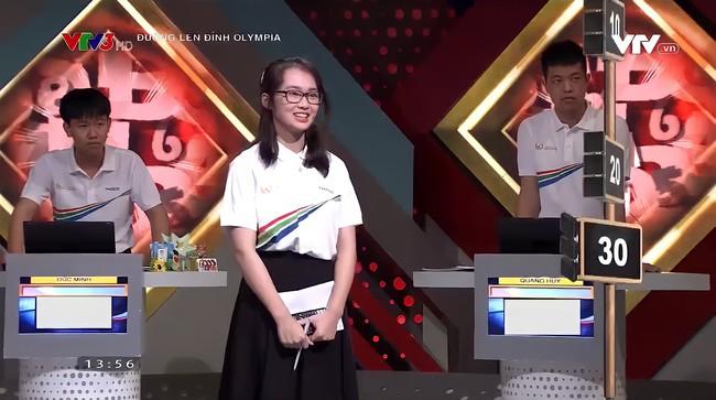Nữ thí sinh Olympia gây bão MXH dù chương trình chưa phát sóng: Ngoại hình xinh xắn, còn học chung trường với nhân vật đình đám này - Ảnh 1.