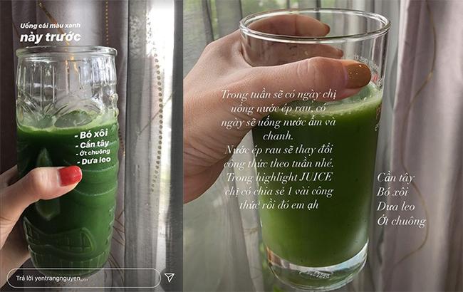 Khám phá ly nước ép rau xanh giúp Yến Trang giữ dáng, không cần ăn uống kiêng khem: Hóa ra toàn là siêu thực phẩm! - Ảnh 1.
