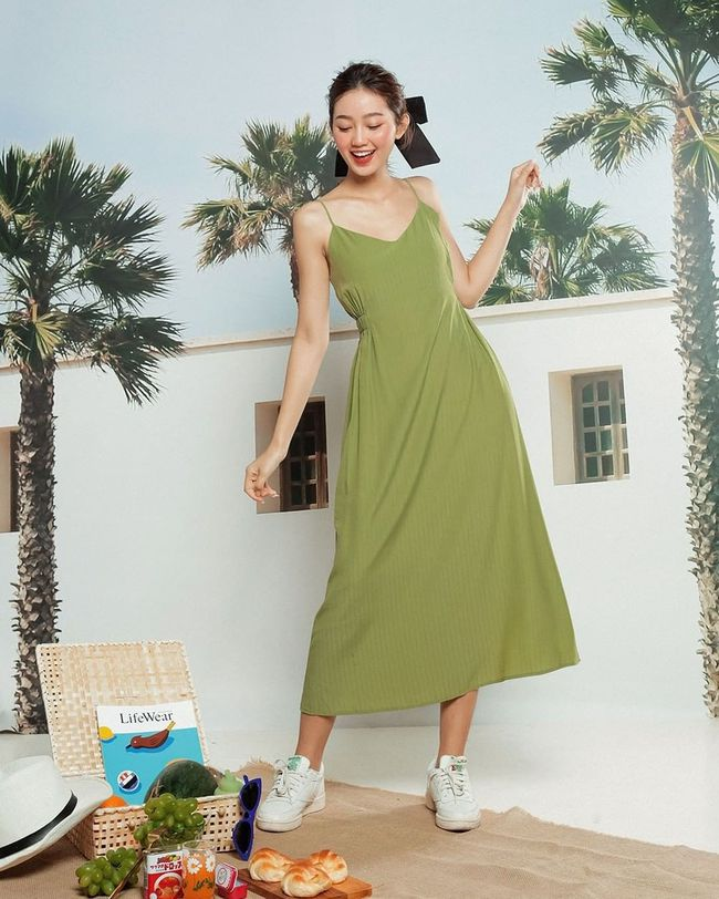 """12 mẫu váy hai dây diện đẹp từ đi chơi đến đi biển, nhìn giá chỉ từ 240k mà muốn """"rinh"""" hết về nhà - Ảnh 15."""