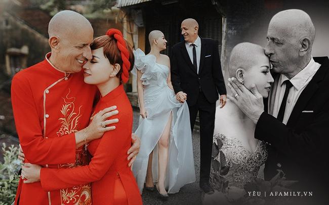 Chuyện tình của cặp đôi gái Việt cưới chồng Mỹ hơn 37 tuổi: Chú rể ung thư, cô dâu cạo trọc đầu trước ngày chụp ảnh khiến người đàn ông khóc ngay tại chỗ! - Ảnh 1.