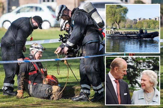 Công tác chuẩn bị cho tang lễ Hoàng tế Philip đang vô cùng khẩn trương: Cảnh sát an ninh chui hẳn xuống cống để đảm bảo không có sự cố bất ngờ xảy ra - Ảnh 1.