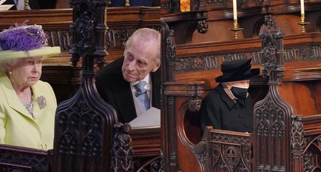 Khoảnh khắc gây nhói lòng trong đám tang Hoàng tế Philip: Nữ hoàng ngồi lặng lẽ cúi đầu đơn độc ở một hàng ghế, người đi rồi chỉ còn lại mình ta - Ảnh 4.
