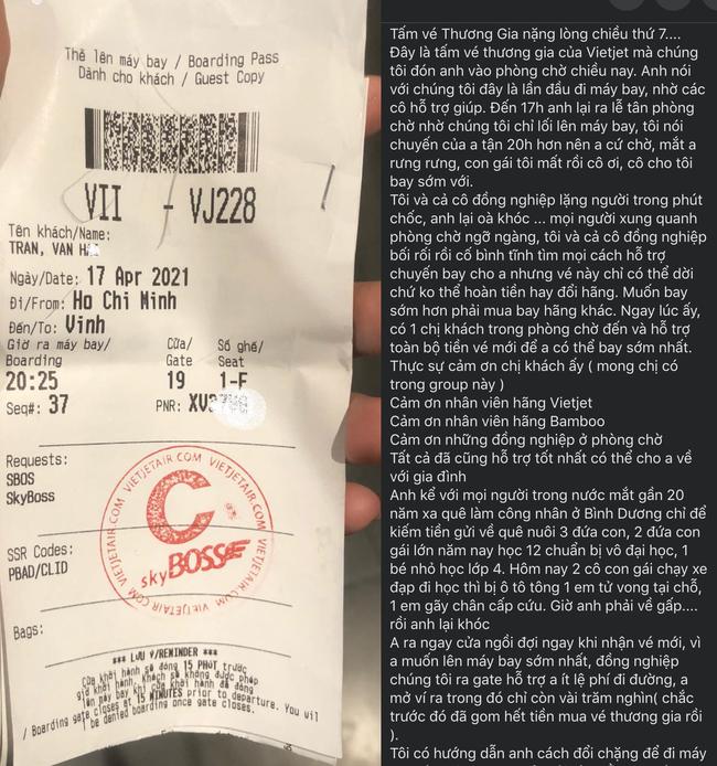 Xôn xao câu chuyện xúc động về người đàn ông khóc đẫm nước mắt xin đổi chuyến bay đi sớm để về với người con vừa mất vì tai nạn giao thông - Ảnh 2.