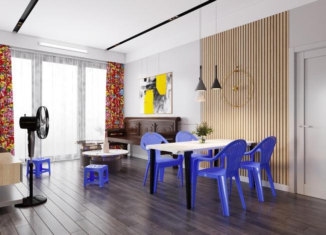 """Tranh cãi thiết kế nội thất theo phong cách """"tân cổ giao duyên"""": Người cho rằng là nét giao thoa văn hóa, kẻ lại nói giống như mớ bòng bong - Ảnh 3."""