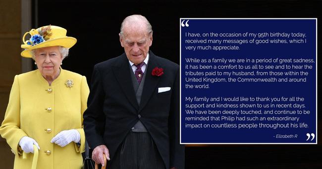 Trong ngày sinh nhật tuổi 95, Nữ hoàng Anh bất ngờ lên tiếng sau sự ra đi của bạn đời, cho thấy sự tinh tế và đẳng cấp không ai có được - Ảnh 1.