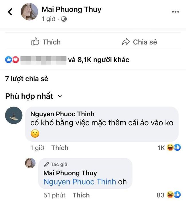 """Khoe vòng một căng đầy gợi cảm, Mai Phương Thúy bị Noo Phước Thịnh nhắc """"mặc thêm áo vào"""" - Ảnh 2."""