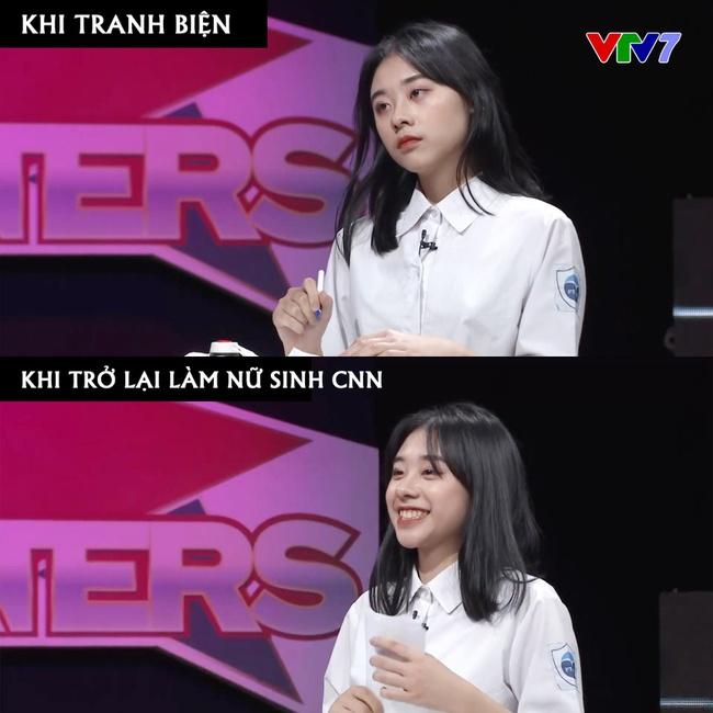 Xuất hiện trên sóng truyền hình VTV7, nữ sinh Hà Nội gây bão vì xinh ơi là xinh, ngó sang thành tích học tập lại càng bái phục! - Ảnh 3.
