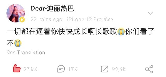 Trường Ca Hành: Địch Lệ Nhiệt Ba khóc lóc, đăng hẳn Weibo vì netizen phản pháo điều này - Ảnh 6.