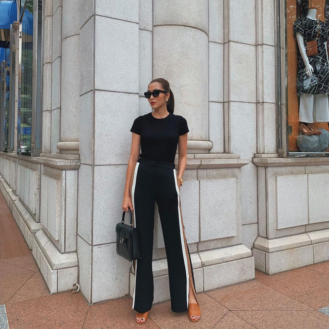 Diện quần đen sẽ giúp chân nhỏ hẳn đi nhưng để trông thật sành điệu chứ không nhàm, chị em hãy học Hà Tăng - Ảnh 6.