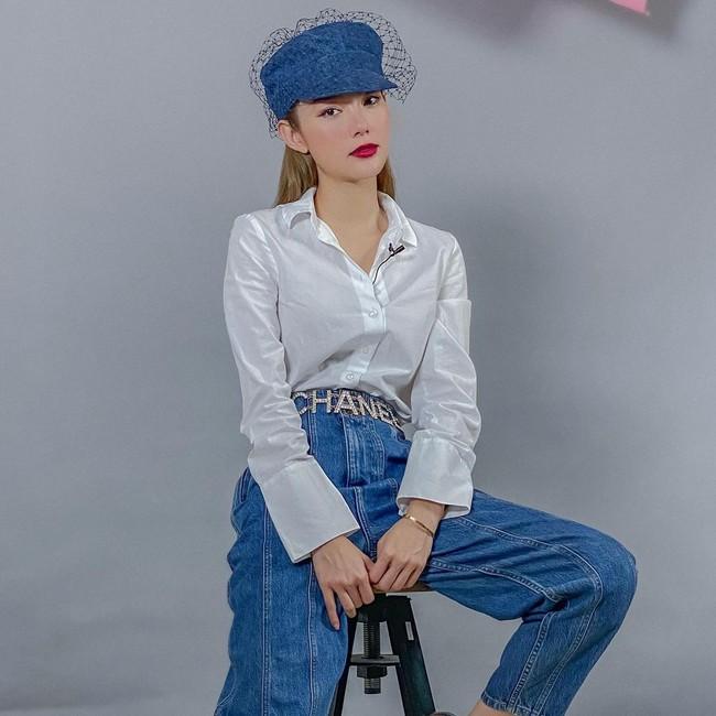 Minh Hằng đã sửa cách diện áo sơ mi trắng thế nào để có bộ đồ xịn đẹp level max? - Ảnh 3.