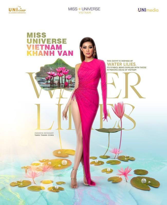 """Hoa hậu Khánh Vân """"chặt đẹp"""" dàn thí sinh Miss Universe với thiết kế hoa súng gợi cảm, khoe chân dài mướt mắt - Ảnh 5."""