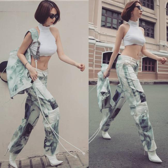 Hôm trước diện quần jeans 140 triệu, hôm sau Ngọc Trinh - Ảnh 7.
