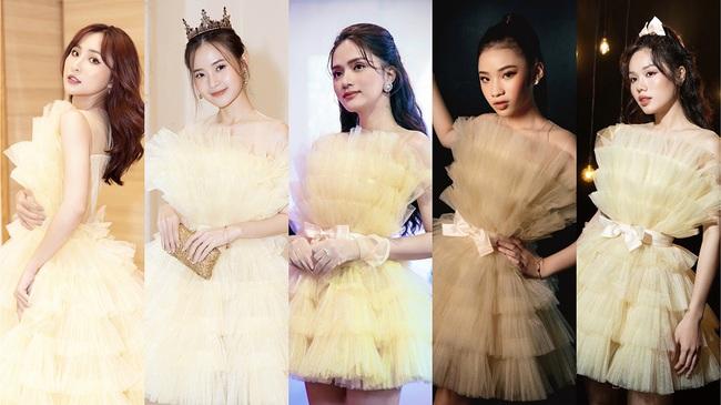 Chị em Nam Anh - Nam Em, siêu mẫu Võ Hoàng Yến... cả Vbiz hóa công chúa kiêu sa trong những thiết kế váy áo bay bổng - Ảnh 2.