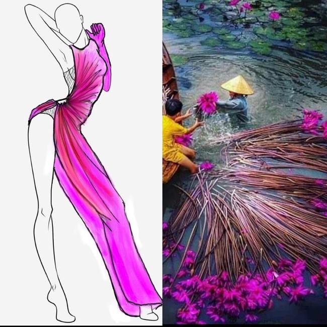 """Stylist hé lộ bí mật ẩn sâu trong bộ đầm """"Hoa Súng"""" kiệm vải nhất Miss Universe của Khánh Vân: Chi tiết rất nhỏ nhưng lại là một sự tính toán kỳ công - Ảnh 7."""