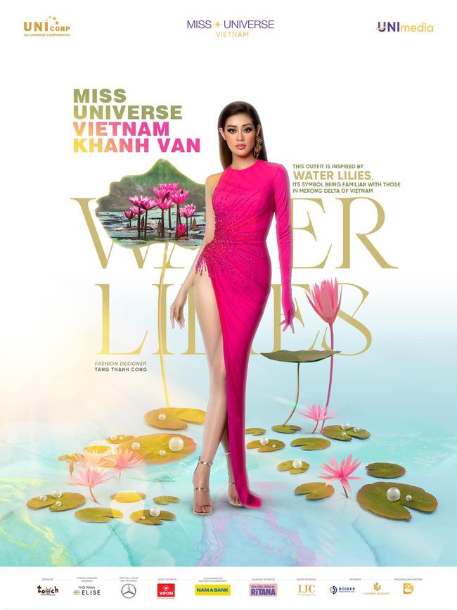 """Stylist hé lộ bí mật ẩn sâu trong bộ đầm """"Hoa Súng"""" kiệm vải nhất Miss Universe của Khánh Vân: Chi tiết rất nhỏ nhưng lại là một sự tính toán kỳ công - Ảnh 6."""