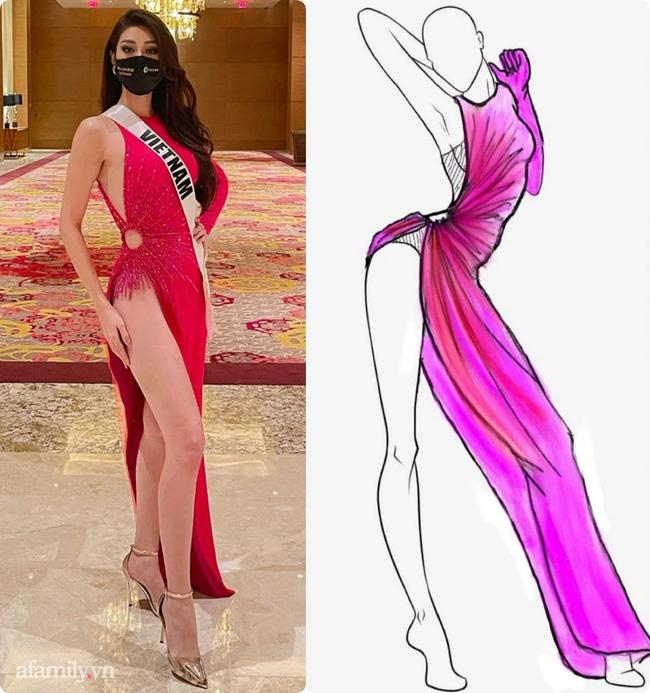 Độc quyền: Stylist hé lộ về chi tiết được may bên trong bộ đầm xẻ cao tận hông của Khánh Vân - Ảnh 2.