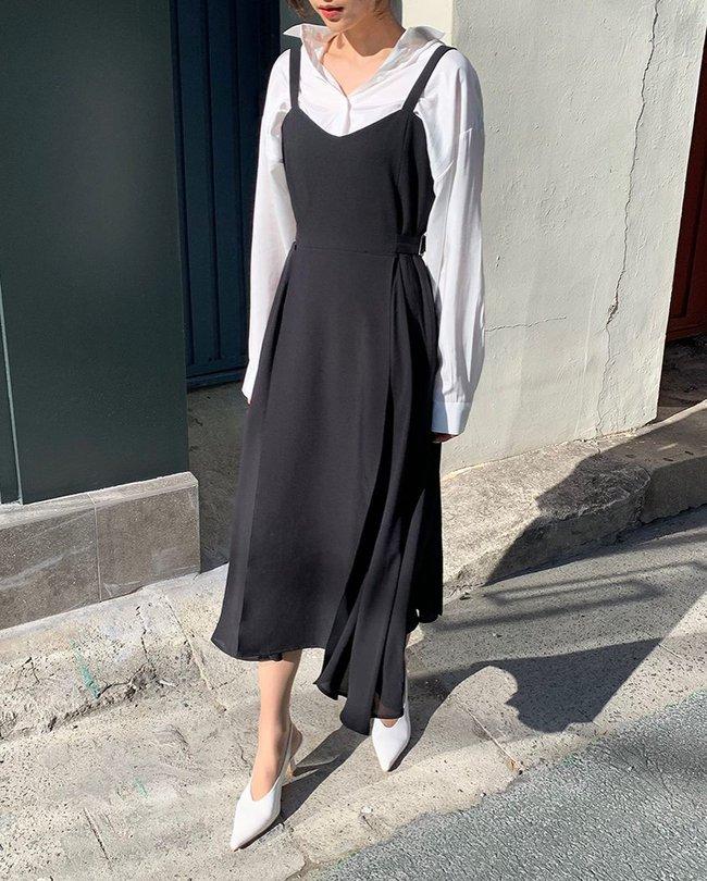 Để biết thế nào là diện váy hai dây xịn đẹp level cao nhất, chị em hãy ngắm 12 set đồ của gái Hàn - Ảnh 10.
