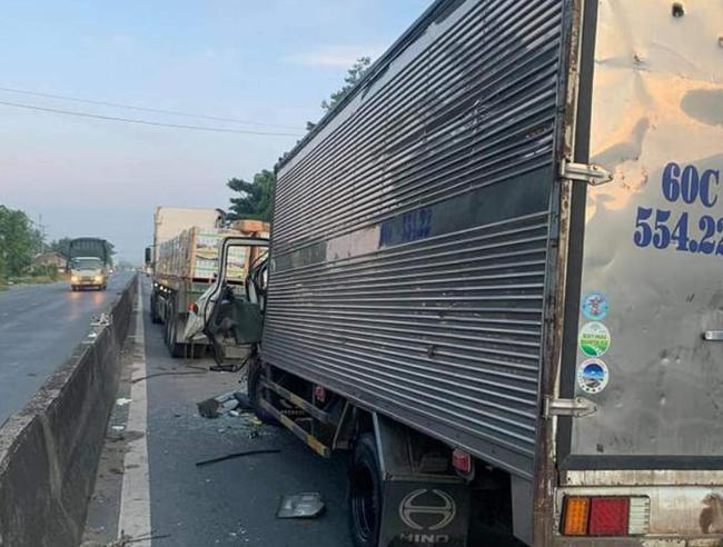 Hiện trường ám ảnh vụ xe tải tông xe đầu kéo, 2 vợ chồng tài xế xe tải thương vong - Ảnh 3.