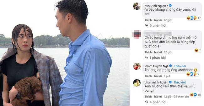 """Mạnh Trường chê Phương Oanh người như khúc giò nhưng cũng muối mặt vì lộ bụng bia trong """"Hương vị tình thân"""" - Ảnh 3."""