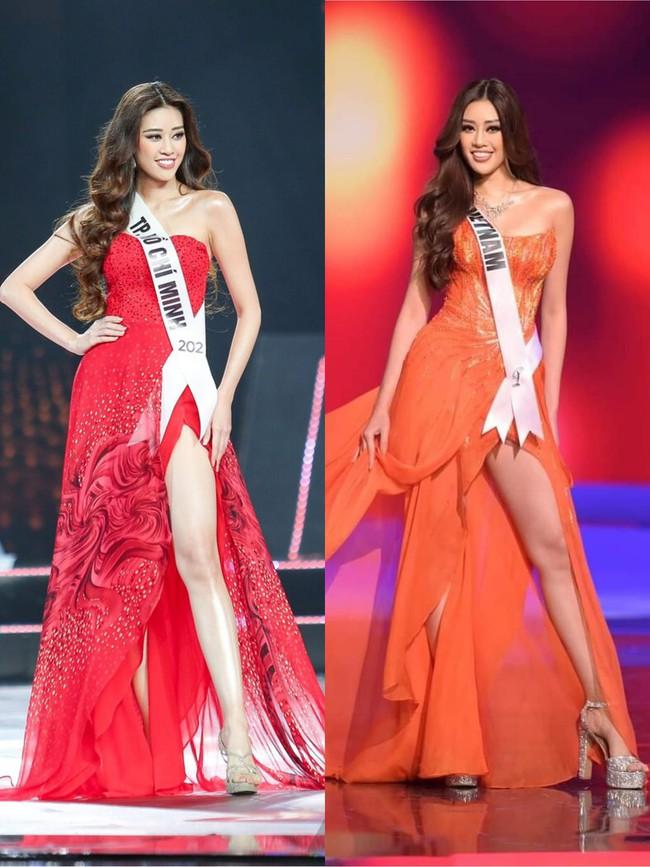 Phát hiện chi tiết cực đắt giá trong phần thi váy dạ hội của Khánh Vân ở Miss Universe 2020 từng giúp cô trở thành Hoa hậu Hoàn vũ Việt Nam  - Ảnh 2.
